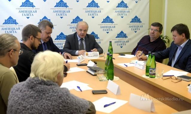 Александр Никонов стал первым гостем обновленной пресс-гостиной ИД «Липецкая газета»