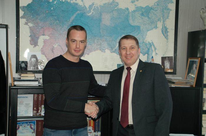 Француз в гостях у журналистов Липецкой области