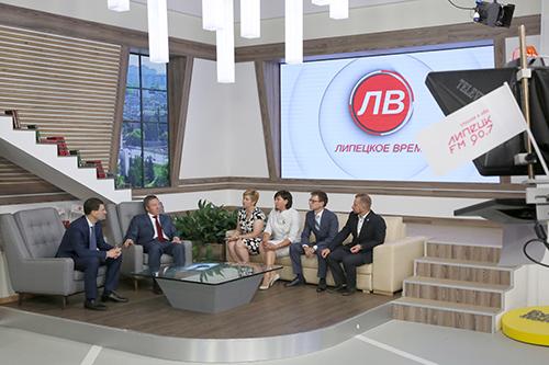 Полпред президента РФ в ЦФО стал гостем телерадиокомпании «Липецкое время»