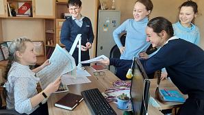 Воловские пятиклассники побывали на экскурсии в редакции газеты «Вперёд»
